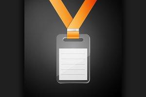 Plastic id badge