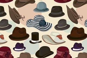 man and woman hats