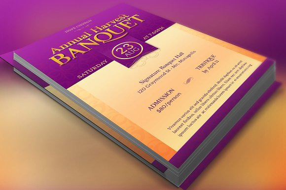 church banquet flyer template flyer templates creative market