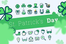 St. Patrick's Day icons (24 + 24)
