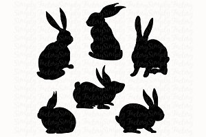 Bunny Silhouette Set