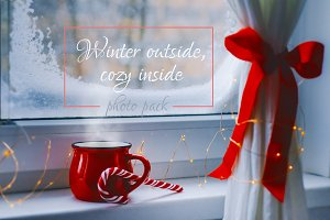 Wintry window (high-res photo pack)