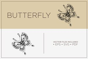 Butterfly - Hand Drawn Vector