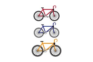 Bikes Vector Illustration in Flat Design