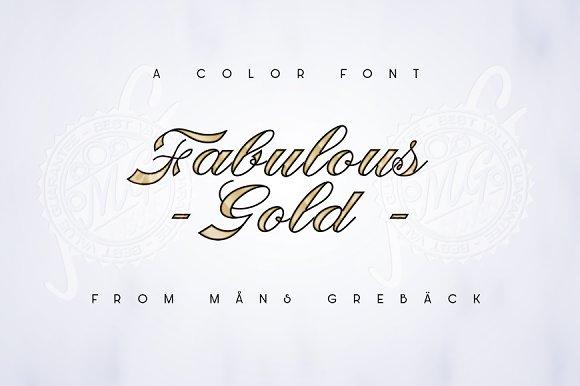 83% OFF Color Font Fabulous Gold