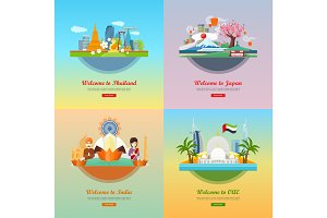 Welcome to Japan, Thailand, India, UAE