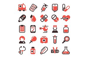 Health medical vector icons.