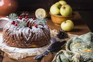 cake with raisins