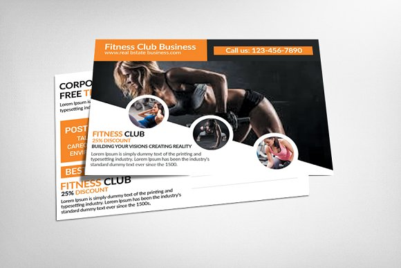 Fitness GYM Postcard Template