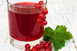 Glass of redcurrant lemonade