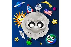 Cosmonautics day illustration
