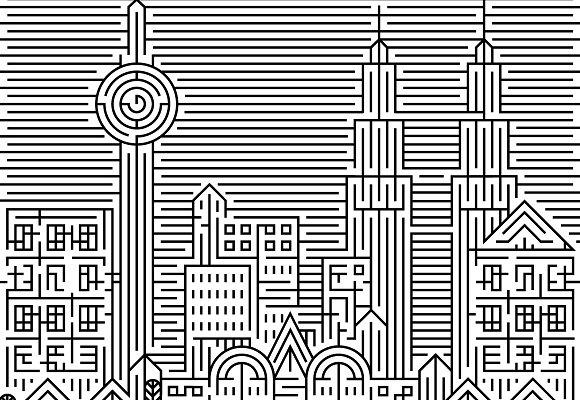 KL City Maze Games Colouring