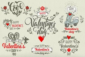*7* Valentine's day LABELS