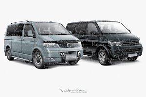 Two Passenger Vans