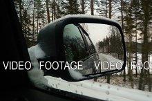 Rear winter road view