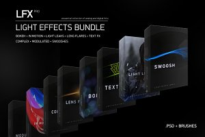 "LFX"" Light Effects Bundle (8 in 1)"