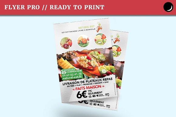 flyer bio food for caterer flyer templates creative market