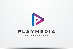 Play Media - Letter P Logo