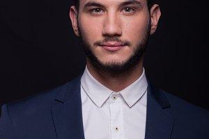 suit shirt jacket head face shoulder