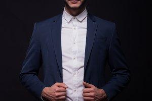 man model elegant shirt pants suit