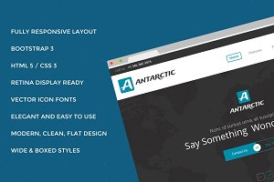 Antarctic Bootstrap Site Theme