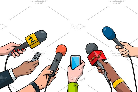 Journalism concept illustration.