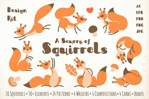 A Scurry of Squirrels - Design Kit