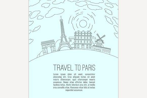 Travel to Paris  in Illustrations