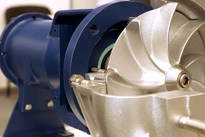 Rotor turbine electric pump for water or liquid