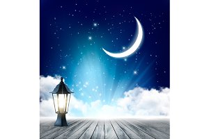 Night nature sky background