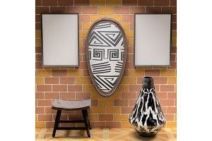 Mocap African interior living room