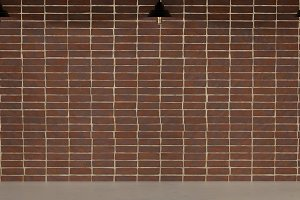 The outer brick wall