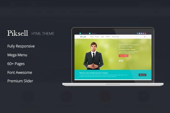 Piksell Multipurpose Html Template Website Templates Creative