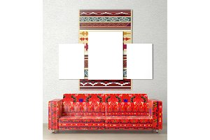 Bright wall hanging ethnic