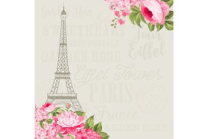 Eiffel tower card.