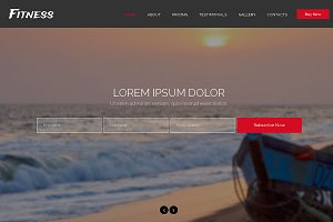Fitness Responsive One Page Theme