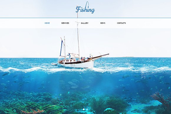 Fishing Responsive One Page Theme