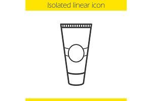 Cream tube icon. Vector