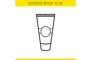 Cream tube icon. Vector