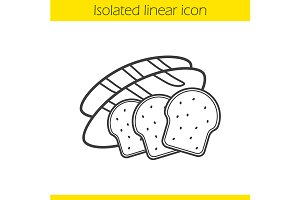 Bread icon. Vector
