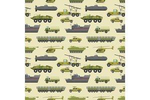 Military trucks pattern.
