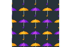 Umbrella seamless pattern vector illustration.