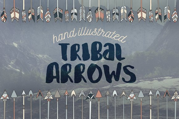Hand Illustrated Tribal Arrows