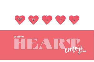 36 Heart Emoji Icon