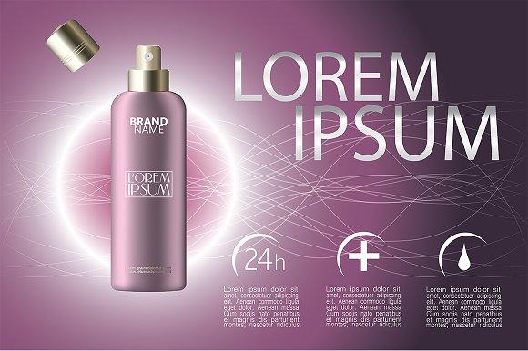 Makeup spray vector