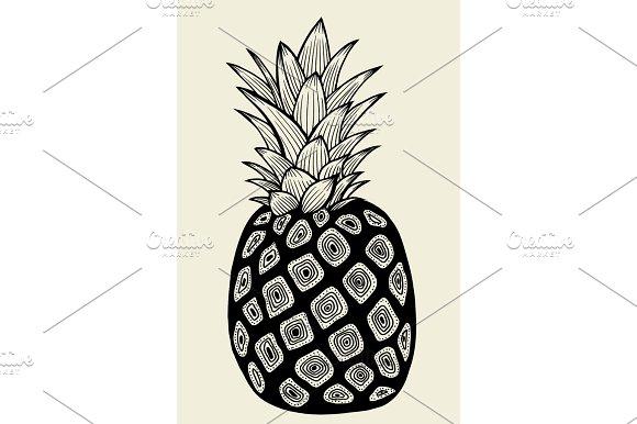 Pineapple vector Illustration