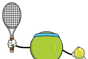 Tennis Ball Faceless Player