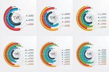 Templates fot circle infographics