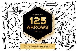 Arrows. Hand Drawn doodle 125