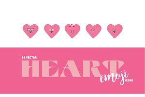 Pink Heart Emoji Icons
